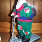 Animated musical GO SCOOTER SANTA claus singing scooting figure fun decoration