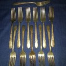 WM ROGERS MFG CO Priscilla Lady Ann antique silverplate silverware 12 salad fork