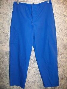 DICKIES women M scrubs pants nurse dental medical drawstring waist leg pockets
