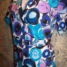 Bright adjustable waist wrap look scrub top nurse dental medical DELTA women L