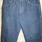 WRANGLER Rugged Wear all cotton classic denim blue jeans men's 34x32 dark wash