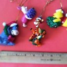 4 WINNIE POOH CHRISTmas tree ornament figurine decoration Tigger Eeyore Piglet