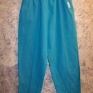 Women's size S scrubs nurse uniform tapered leg pants elastic waist LANDAU teal