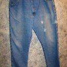 WRANGLER Rugged Wear big & tall 42x36 men's basic denim blue jeans distressed