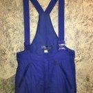 SPORTCASTER made Korea nylon royal blue M snowpants bibs adj shoulder straps GC