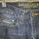 AMERICAN EAGLE Original Straight all cotton denim blue jeans men's boy's 28x26
