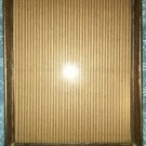 "Vintage gold metal wood grain photo picture frame 8x10"" scrolled corner easel"