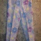 SIGRID OLSEN purple floral linen blend capri cropped peddle pusher pants women 4