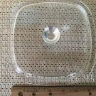 """Vintage small square 7"""" casserole dish replacement lid clear glass unbranded GUC"""
