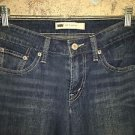 LEVIS 518 Superlow 27x30 stretch bootcut leg denim blue jeans dark wash red tab