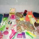 Lot 100+ Barbie clothes shoes heads accessories hats picnic basket sleeping bag