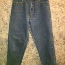EDDIE BAUER classic high waist denim blue jeans 8 straight leg 5 pocket med wash