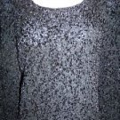 Silk blend dressy black GIANNI stretch modest crewneck sweater woman plus 3X