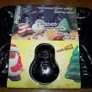 CHRISTmas mini-cakes jello non stick metal mold baking pan Santa snowman tree