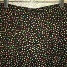 Silky black polka dot elastic waist pull on lightweight pants JACLYN SPORT 14