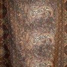 5.5 yards silk ? paisley design pattern brown Inidan dupatta sewing fabric throw