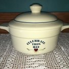 Celebrate This Day heart casserole dish lid TREASURE CRAFT POTTERY USA 1.5 qt