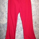 Red scrub pants dental medical vet uniform Cherokee 4101 low rise flare leg leg