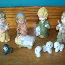 Children's nativity ceramic Tawain Baby Jesus Mary Joseph sheep
