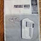General Electric portable mixer M21 instruction recipes
