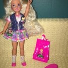 Barbie  3 Polly Pocket Stacie blonde hair accessories original clothes shoes EC