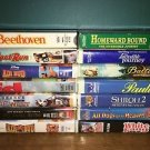 14 VHS VCR movies video tapes G Air Bud Beethoven dogs animals Disney Warner Bro