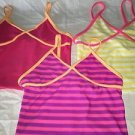 Lot 3 OLD NAVY girl's M tankini bathing swimming swim suit tops bright NWOT