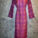 OOAK kurti kutra formal long dress shiny pink purple irridescent sheer organza