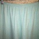 Blue aqua polka dots sleep lounge pajama pjs bottoms pants XL high waist stretch