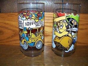 MUPPETS McDonald glasses 1981 vintage Great Caper EUC ~