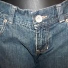 Low rise distressed blue jean shorts women junior size 3 denim MOSSIMO bermudas