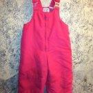 Girls 3T winter pink bib overall snow pants snowpants zipper front adj straps