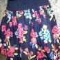 HOLLISTER tropical flower island beach elastic waist blue mini skirt women's S