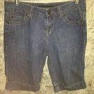 CALVIN KLEIN JEANS blue denim shorts modest length casual 10 lightweight cuffed