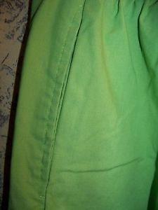 Lime green scrub pants nurse dental medical drawstring elastic waist M MED+WEAR