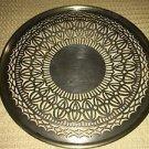 Antique silver plate (?) decorative cut out ornate design plate centerpiece deco