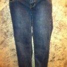 SO dark blue women junior size 3 stretch slim skinny jeans school clothes GUC