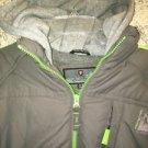 PROTECTION SYSTEM 14-16 fleece lined faux layer snow jacket sweatshirt hood warm