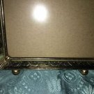 Antique gold metal fine detail emboss photo picture frame easel 5x7 ball foot