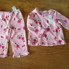Velour pants top pink floral CHILDREN PLACE toddler girl 18 month outfit NWT