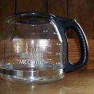 12 C glass clear coffee maker pot carafe flip lid replacement MR COFFEE teardrop