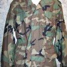 US Army field jacket green camo authentic vintage military medium regular heavy