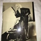 Antique ? 1933 Jean Harlow DINNER AT EIGHT movie promo photograph black robe GC
