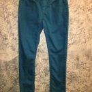 SO teal blue denim skinny stretch jeans pants 0 low rise casual career school