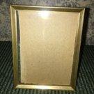 """Antique brass metal embossed easel photo picture frame 3x4"""" velvet back shabby"""