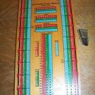 Vintage Hoyle wooden Continuous Track Cribbage card game board 14 metal pegs