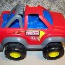 "TONKA JR monster pick-up truck sturdy plastic heavy duty 14"" red 4x4 off road"