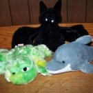 Lot  GANZ WEBKINZ stuffed animal toy bat dye frog dolphin collectable cuties