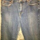 """LEVIS 505 Straight Leg stretch denim blue jeans pants red tab tag 10L 32"""" inseam"""