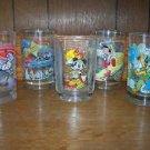 Walt Disney World's 100 anniversary 5 drinking glasses tumblers Donald Mickey ..